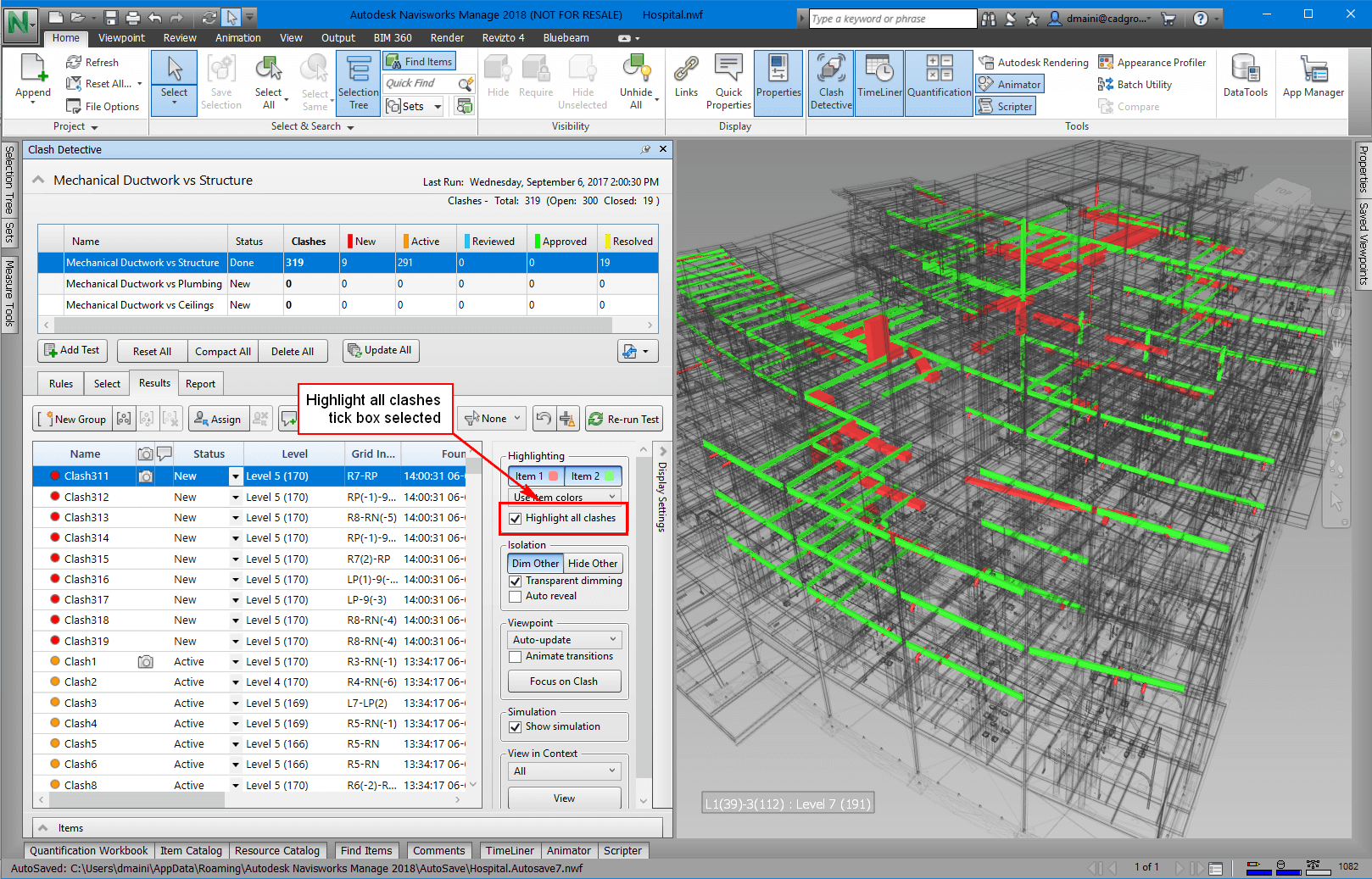 BIM Software - Navisworks Screen Shot