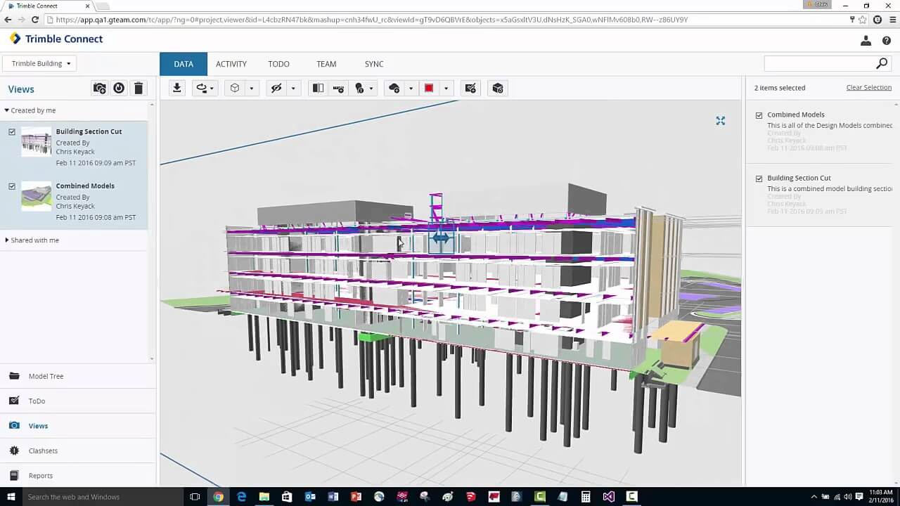 BIM Software - Trimble Connect Screenshot